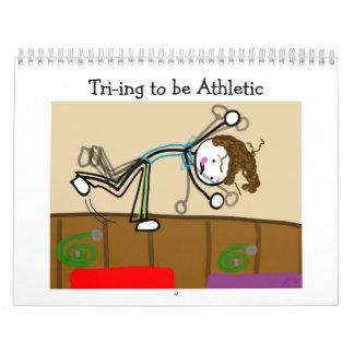 2013 Cartoon Sport Calendar:Tri-ing to be Athletic Calendar