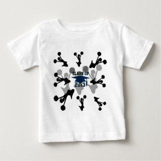 2013 cheerleader blue gray infant t-shirt