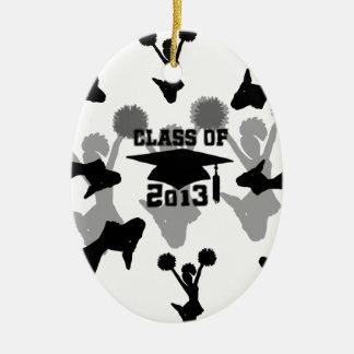 2013 Cheerleader graduation Ceramic Ornament