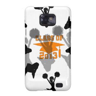 2013 Cheerleader graduation Orange Samsung Galaxy S2 Covers
