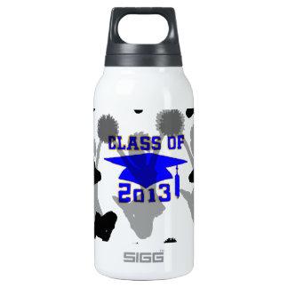 2013 Cheerleader light blue gold Insulated Water Bottle