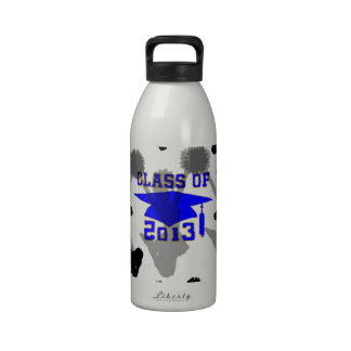 2013 Cheerleader light blue gold Drinking Bottles
