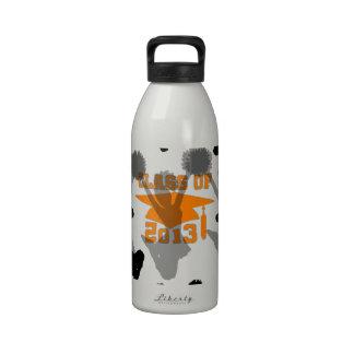 2013 Cheerleader Orange Gray Water Bottles