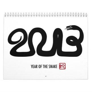 2013 Chinese Lunar New Year Snake Calendar