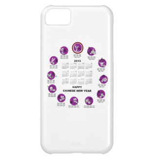 2013 Chinese Zodiac Happy New Year Calendar Cover For iPhone 5C