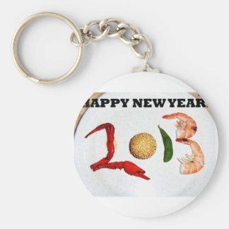2013 chinos asiáticos de la Feliz Año Nuevo Llavero Redondo Tipo Pin