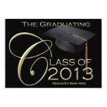 2013 Classic Black & Gold Graduation Announcement