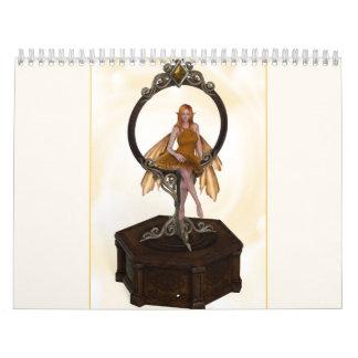 2013 Colorful Fairies calander Wall Calendars