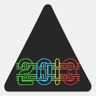 2013 colorido calcomanías de triangulos personalizadas