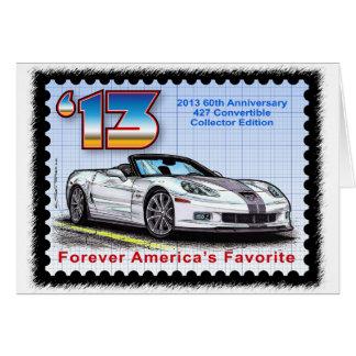 2013 Corvette 60th Anniversary Convertible Card
