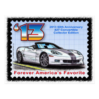 2013 Corvette 60th Anniversary Convertible Postcard