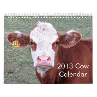 2013 Cow Calendar