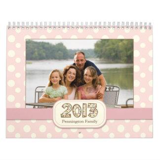 2013 customizable family photos calender wall calendar