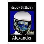 2013 Cute Kids Football Personalized Birthday Card