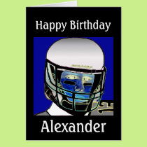 2013 Cute Kids Football Personalized Birthday Card