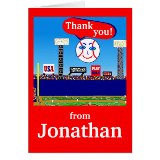 2013 Cute Personalized Kids Sports Thank You Notes