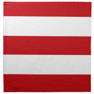 2013 Dark Red White Stripe Cloth Dinner Napkins