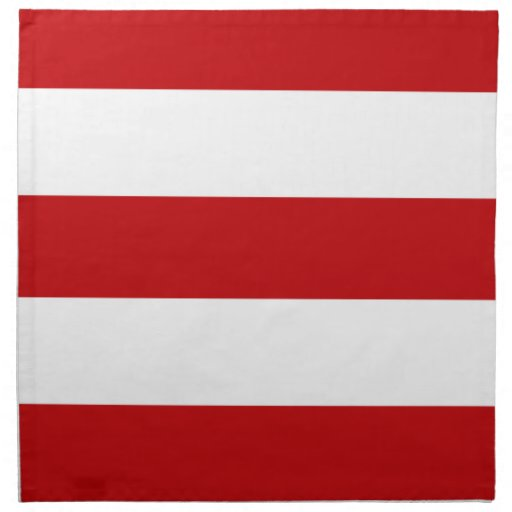 2013 Dark Red & White Stripe Cloth Dinner Napkins