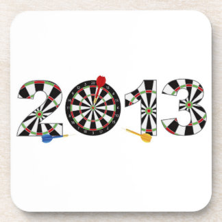 2013 Dartboard and Darts Cork Coaster