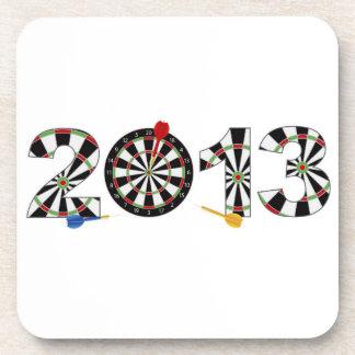 2013 Dartboard and Darts Cork Coaster