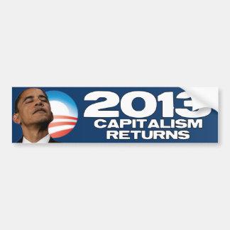 2013 - Devoluciones del capitalismo Pegatina Para Auto