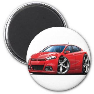 2013 Dodge Dart Red Car 2 Inch Round Magnet