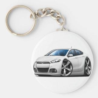 2013 Dodge Dart White Car Keychain