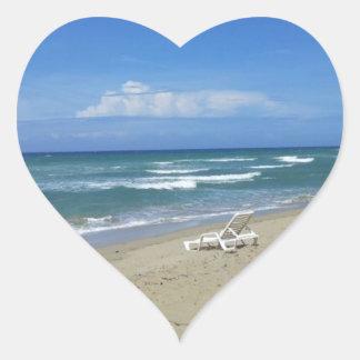 2013 DOMINICAN REPUBLIC HIDEAWAY BEACH PHOTOGRAPHY HEART STICKER