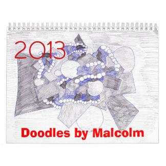2013 Doodle Calendar