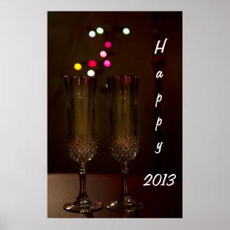 2013 dos vidrios felices del poster