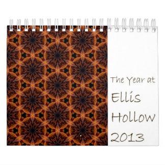 2013 el año en el calendario hueco del jardín de