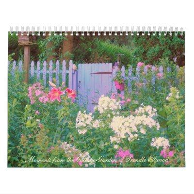 2013 el jardín de la cabaña de Trendle Ellwood rev Calendarios De Pared