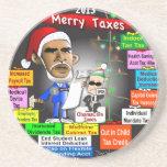 2013 felices impuestos posavasos diseño