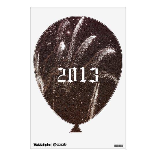 2013 & Fireworks Balloon Wall Decal