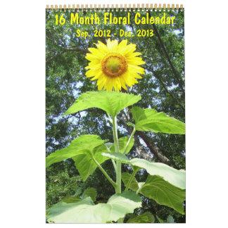 2013 - Floral Calendar - 16 Month