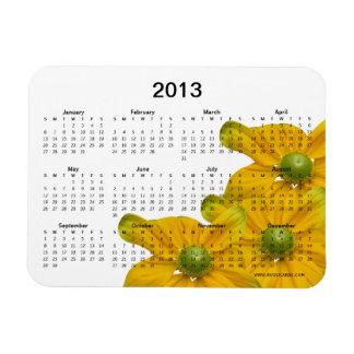 2013 Floral Calendar Premium Magnet