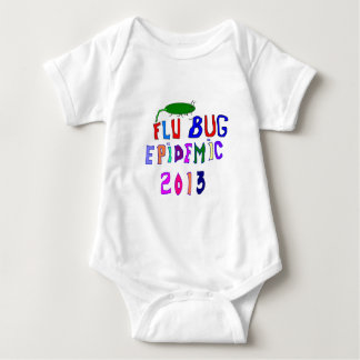 2013 Flu Bug Epidemic Baby Bodysuit