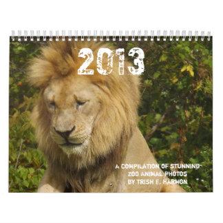 2013 fotos del animal salvaje de parque zoológico calendarios