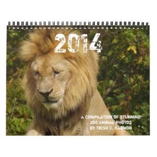 2013 fotos del animal salvaje de parque zoológico calendario