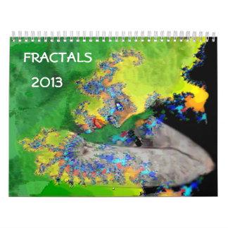 2013  FRACTAL ART COLLECTION WALL CALENDARS