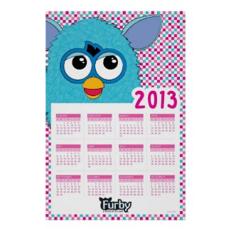 2013 Furby Calendar Poster