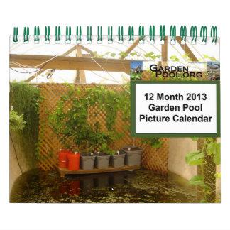 2013 Garden Pool Calendar - Small