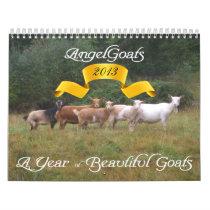 2013 Goat Calendar Beautiful Goats  AngelGoats