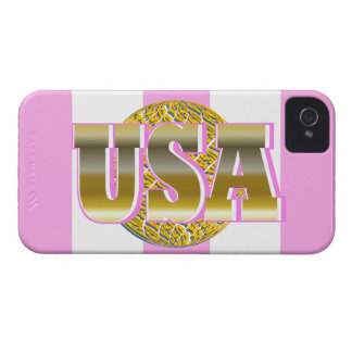 2013 Gold USA Sports Womens Pink iPhone Case Gift iPhone 4 Case-Mate Cases