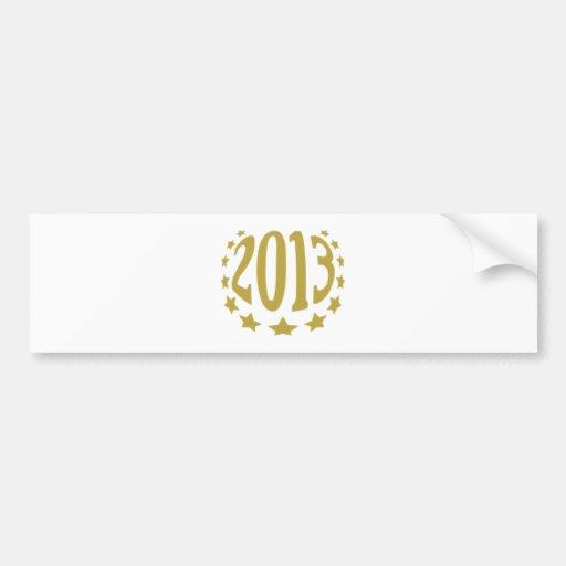 2013 goldshirt.png etiqueta de parachoque