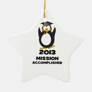 2013 Grad Mission Accomplished Funny Penguin Christmas Ornament