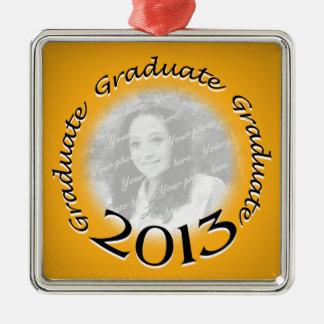 2013 Graduate Gold Photo Metal Ornament