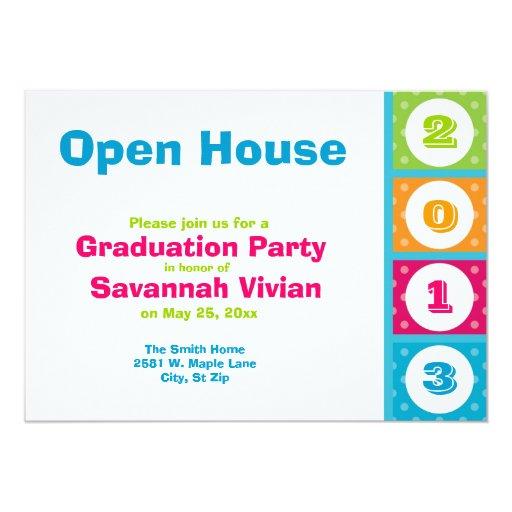 2013 graduation party open house invitations zazzle for Graduation open house invitation