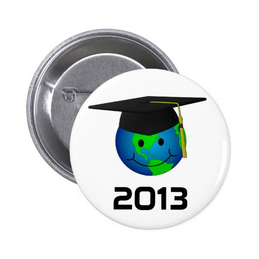 2013 Graduation Smiley Button