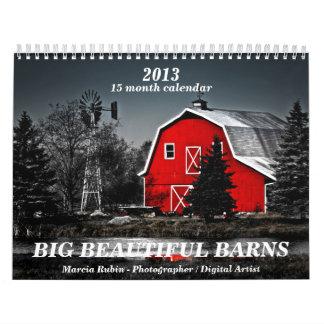 2013 graneros rurales hermosos viejos grandes calendario de pared